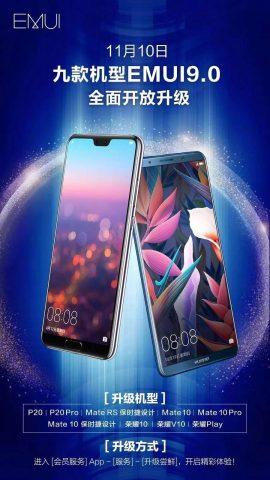 EMUI 9 Güncellemesi Alacak Huawei-Honor Modelleri