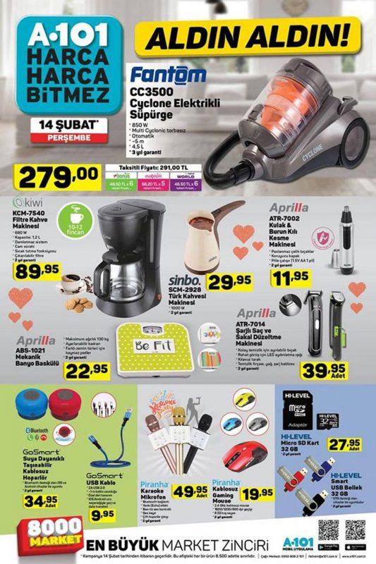 A101 14 Şubat 2019 Perşembe Teknoloji Ürünleri
