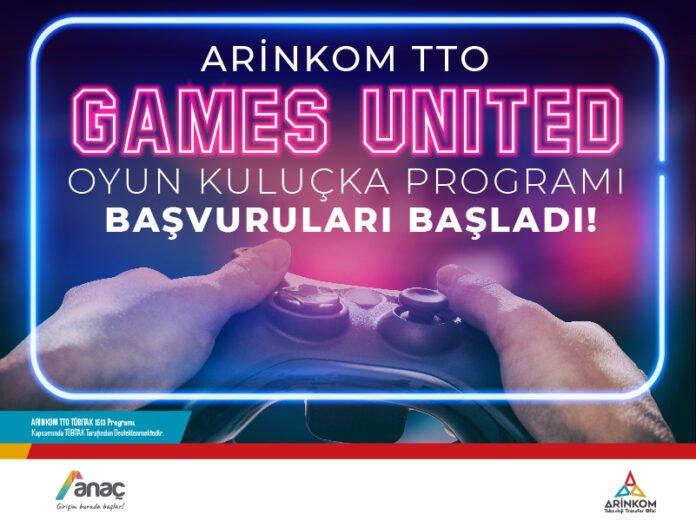 ARİNKOM Games United Kuluçka Programı Başvuruları Başladı