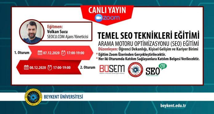 Beykent Üniversitesi Temel SEO Eğitimi