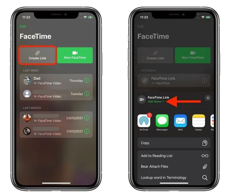 FaceTime Android kullanıcı davet etme 1