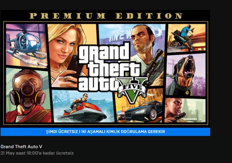 GTA V ücretsiz oldu