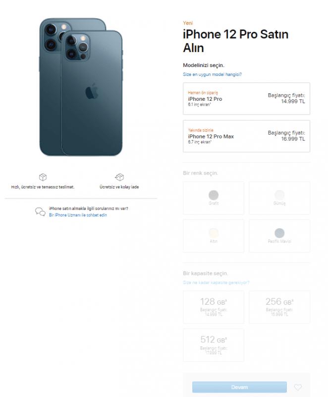 iPhone 12 Pro Ön Sipariş