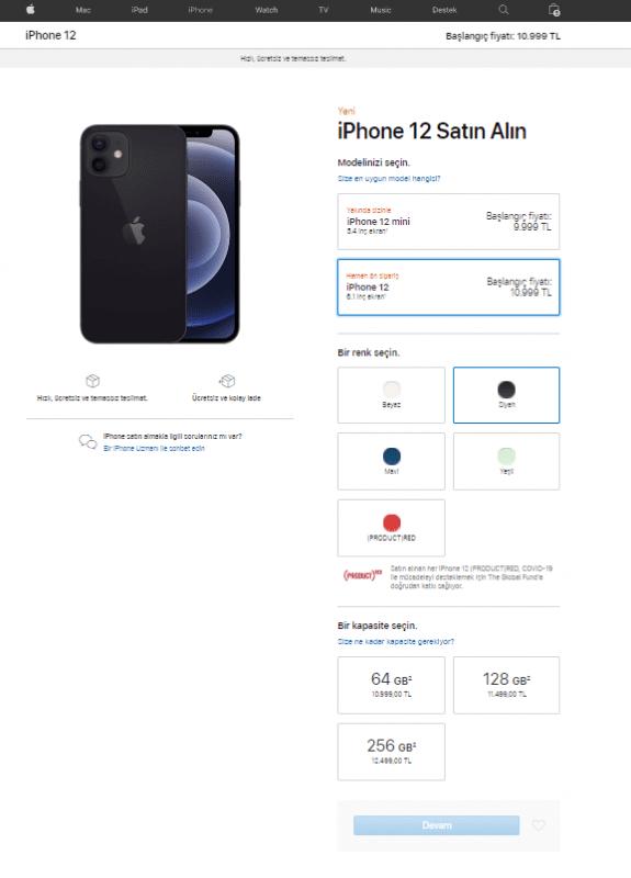 iPhone 12 ön sipariş