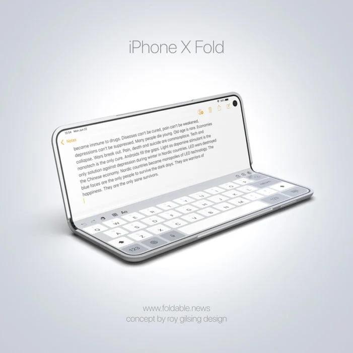 Katlanabilir iPhone prototip