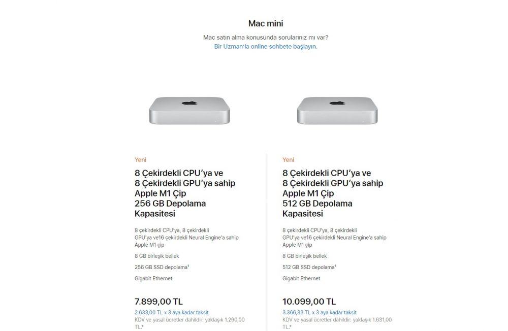 Apple M1 Kullanan Mac Mini