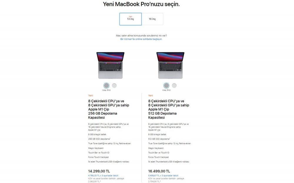 Apple M1 Kullanan MacBook Pro