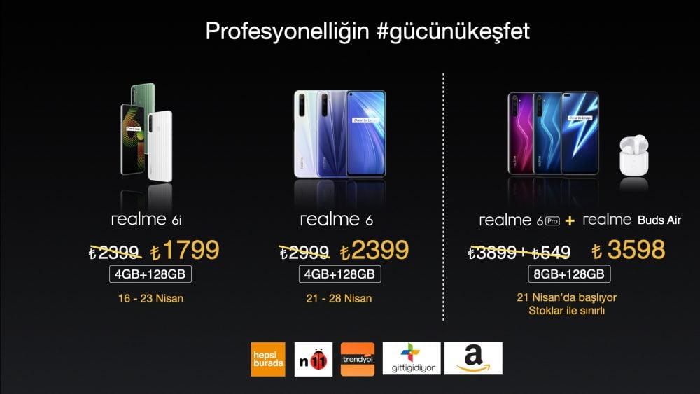 realme 6 Serisi Türkiye Fiyatları
