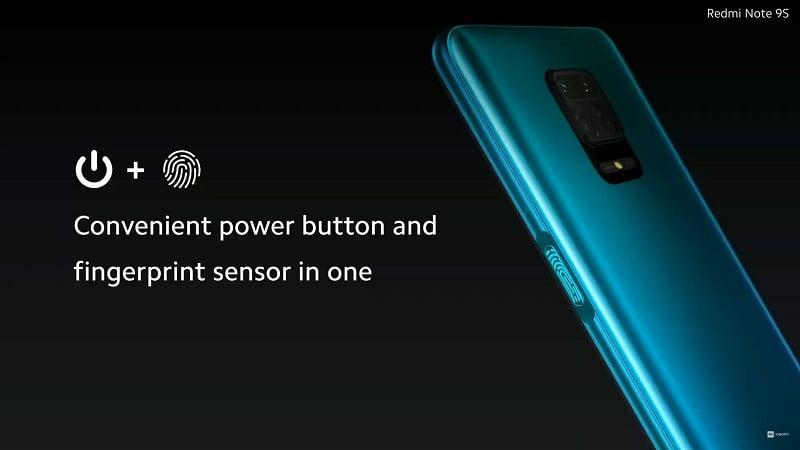 Redmi Note 9S Parmak İzi
