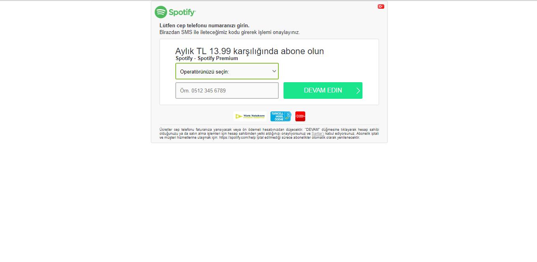 Spotify Boku Ödemesi