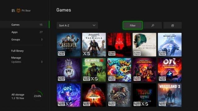 Xbox konsol güncellemesi